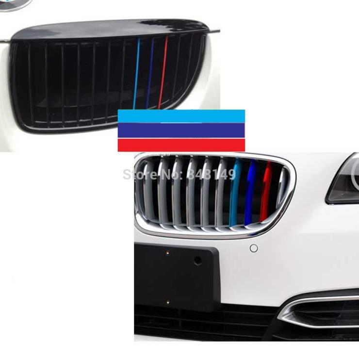 Car Styling M Sports Stickers Front Grille Decals For BMW X X - Bmw grille stripe decals