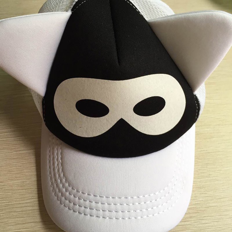 soft brim baseball hat cotton caps adorable kids children cartoon cap kid baby black summer visor hats