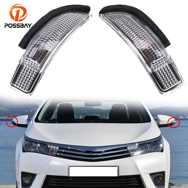 Possbay Car Rearview Mirror Turn Signal Light Led Side Indicator Lights Amber Bulbs For Toyota Avalon