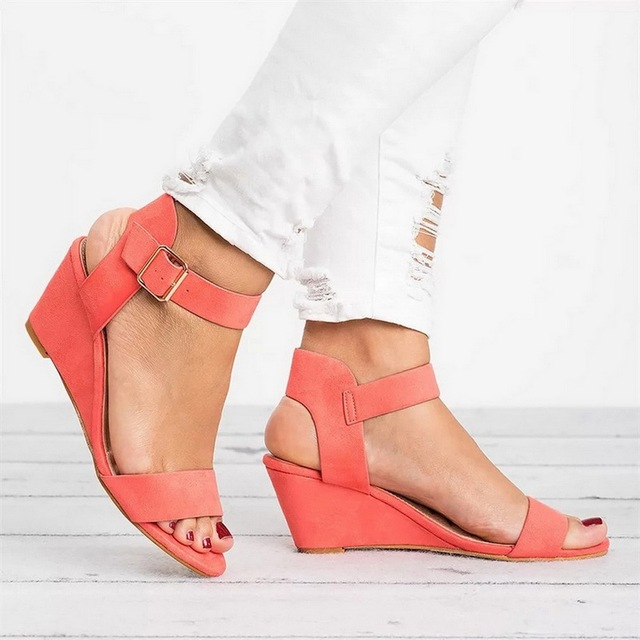 Women Sandals Open Toe Summer Shoes High Heels Sandals Female Plus Size 43 Thin Heel Shoes Woman 2019 Sandals Mujer 4