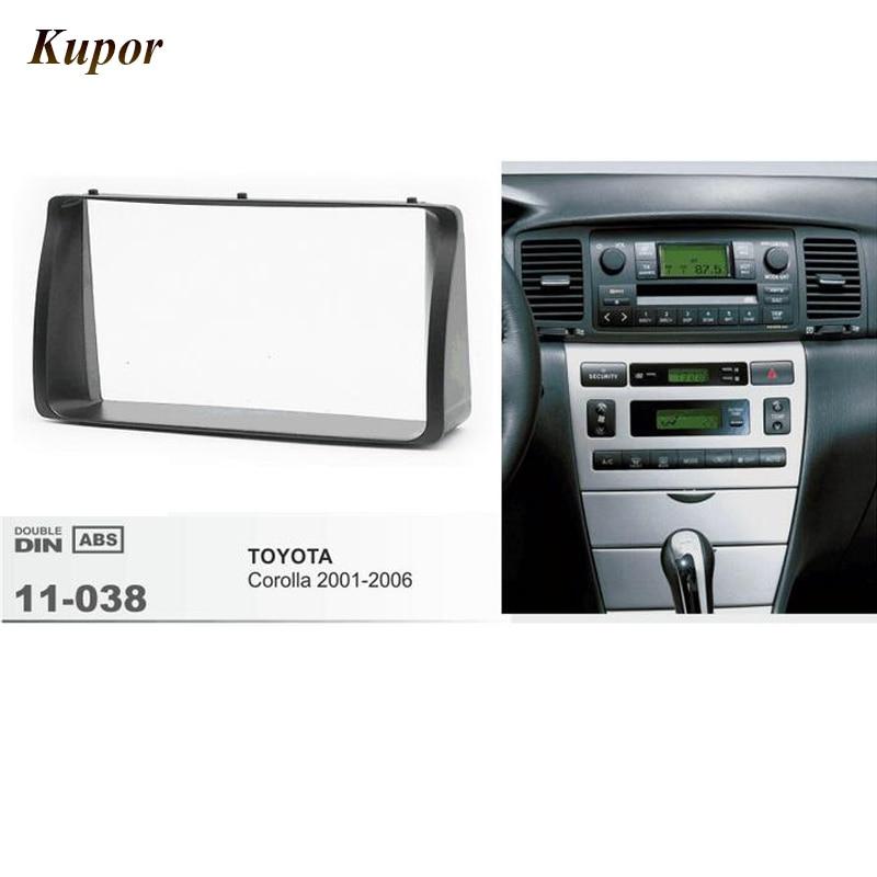 11-038 Радио Рамка для приборной доски комплект для Toyota Corolla 2001 2002 2003 2004 2005 2006 стерео Лицевая панель Даш Установите отделка комплект