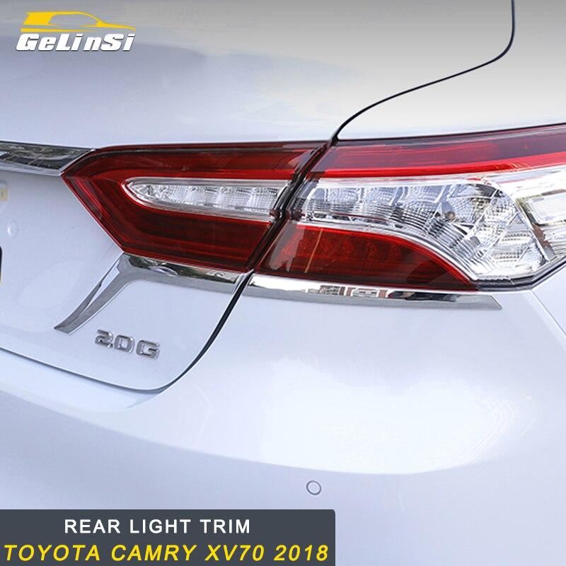 Gelinsi pour Toyota Camry XV70 2018 autocollant de garniture de feu arrière accessoires ABS voiture Auto
