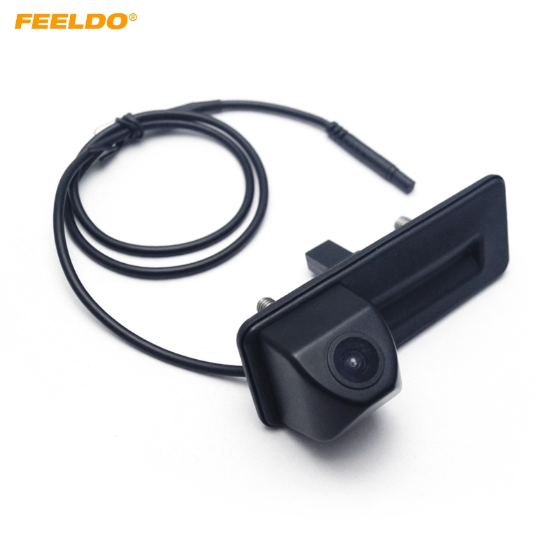 FEELDO Special Car Rearview Trunk Handle Parking Camera For Skoda Octavia 2010 2012 FD 2852