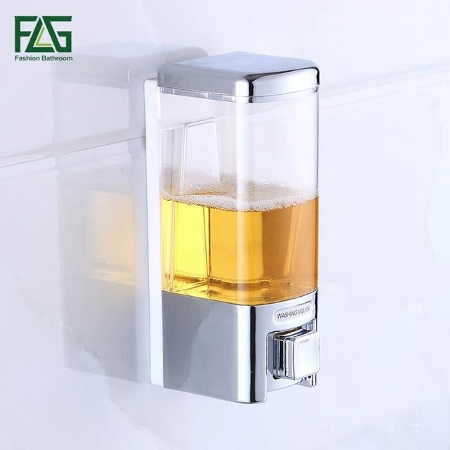 480 ml Bagno Parete Liquido Dispenser di Sapone In Plastica Box Casa ...