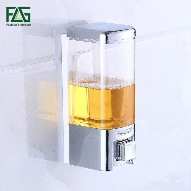 480ml Bathroom Wall Mounted Liquid Plastic Soap Dispenser Banheiro