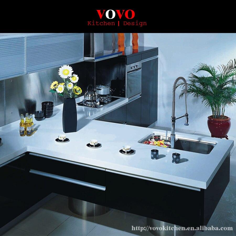 gabinete de cocina con isla handless extendida