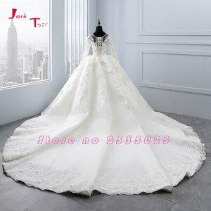 Image 2 - 2020 New Arrival Bruidsjurken suknie ślubne z długim rękawem suknia ślubna szata de Mariee Princesse de Luxe 3D kwiaty Hochzeit