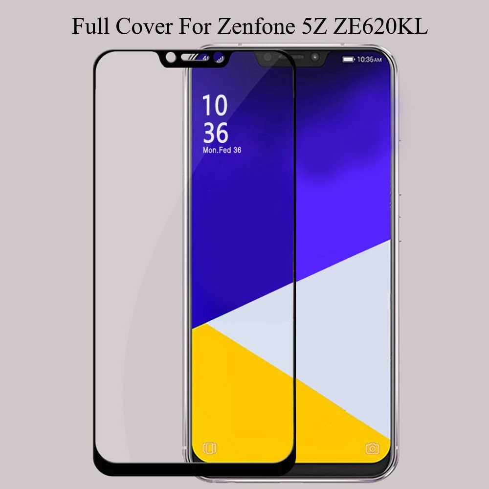 5Z ZE620KL ZS620KL cubierta completa de vidrio para ASUA Zenfone 5Z ZE620KL ZS620KL Protector de pantalla de vidrio templado para Zenfone 5 vidrio