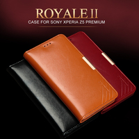 For Sony Xperia Z5 Premium 5 5 Genuine Natural Cowhide Leather Luxury Flip Magnet Phone Cover