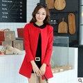Бесплатная доставка Весна осень 2017 новый Европейский стиль модели Взрыва Женщины тонкий элегантный тонкий Шерстяной пальто дешево оптовая