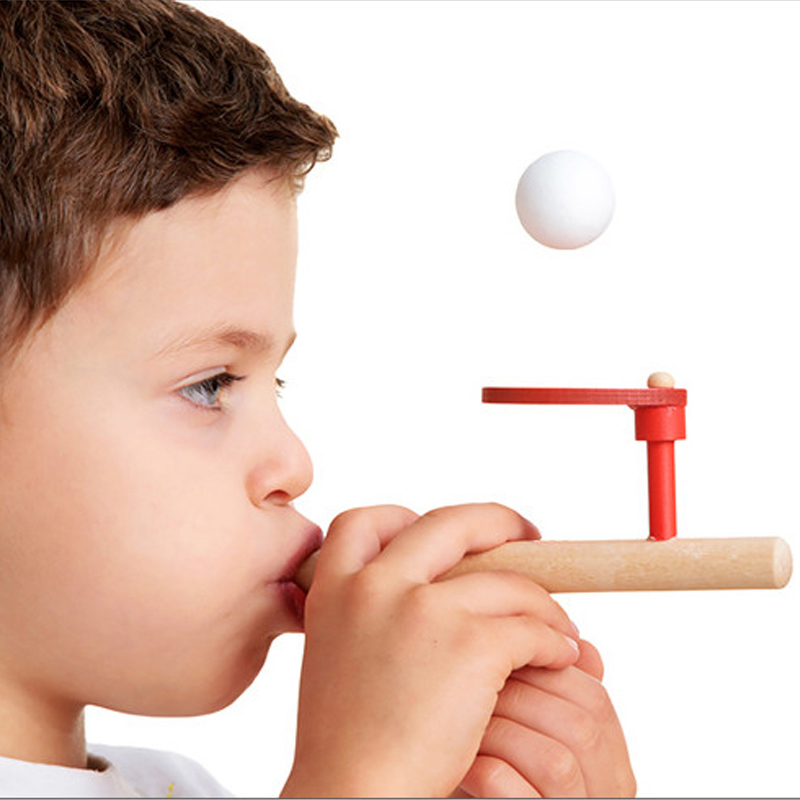 1PCS Fun Sports Toy Wood Hobbies Outdoor Ball Foam Floating Ball Game Children Wooden Ed ...