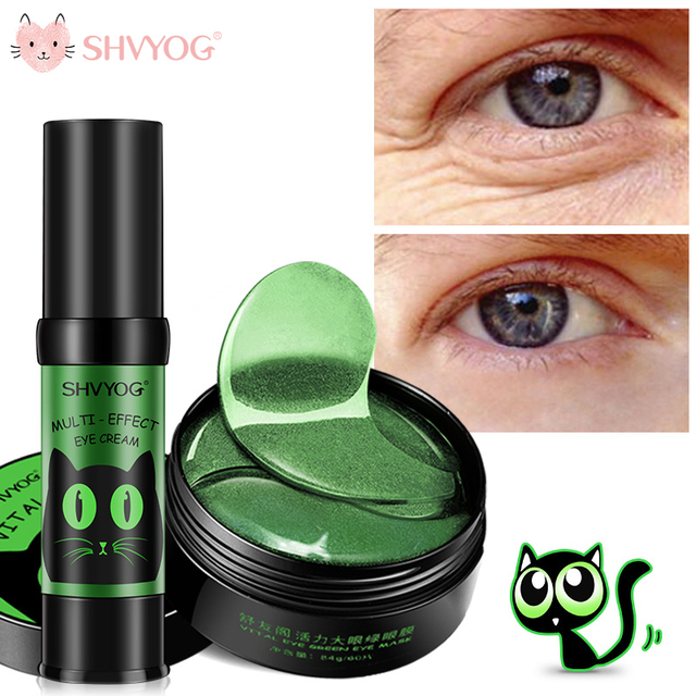 SHVYOG 60pcs Anti Wrinkle Eye Patches Crystal Collagen Under the Eyes Sleep Mask Remove Dark Circles Hydrogel Patch for the face