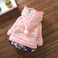 Floral cute little baby infants and children cotton jacket girls plus thick cotton jacket winter coat Children Outerwear