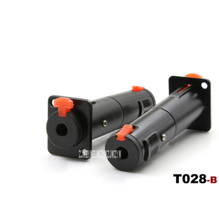 10PCS/lot High-quality T028-B/T028-W Cabinet Panel Mount Connector 6.35mm Female Jack Dual-pass Conversion Stereo D-type Socket