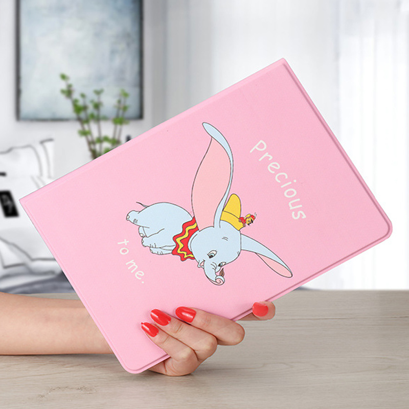 For Ipad Pro 11 Case Cute Dumbo Pu Leather Silicone Soft Back Cover Smart Bracket Protection Case For Ipad Pro 11'' 2019