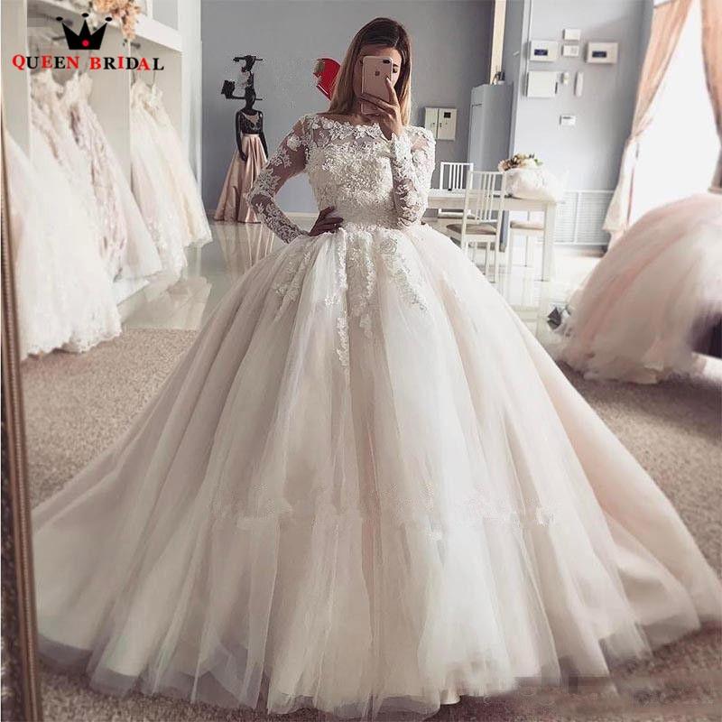 Custom Made Ball Gown Fluffy Tulle Lace Beading Luxury Elegant Bride - Pakaian perkahwinan