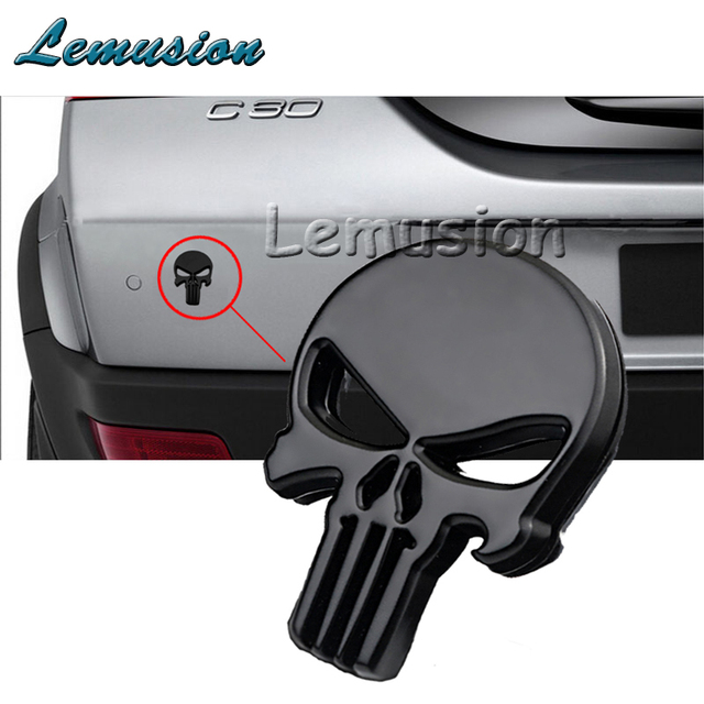 Car Styling Emblema Preto Esqueleto De Metal Adesivo Para Renault Opel  Astra H Chevrolet Cruze Acessórios