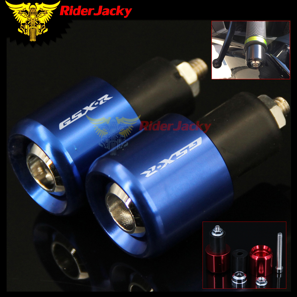 RiderJacky For SUZUKI GSXR GSX R GSX-R 600 750 1000 GSXR600 GSXR750 CNC 22MM Motorcycle Handlebar Grips Handle Bar Cap End Plugs large size 7cm 7cm motorcycle gsxr gsx r brake oil reservoir sock fluid tank cup cover cuff sleeve for suzuki blue black red