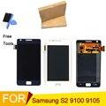 Exibição para samsung galaxy s2 plus i9100 i9105 i9105p lcd tela de toque digitador assembléia ferramentas gratuitas