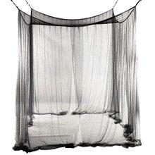 4 Угловая кровать сетчатый Навес Москитная сетка для queen/кровать