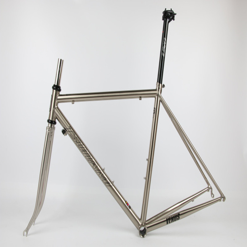 Clearance TSUNAMI 520 chrome-molybdenum steel Bicycle Frame Road Bike Frame + full carbon front Fork or steel Fork 4