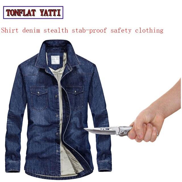2018 self defense Cowboy shirt soft stealth anti-facada militar tactico security clothing fbi swat police Protective clothing
