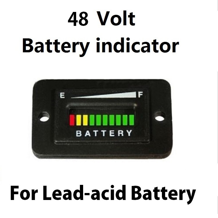 48V Battery Indicator Charge Discharge Meter for Golf Carts Scooter Milk van Car Marine Car MB007 batteries center picture more detailed picture about 48v battery 48v battery meter wiring diagram at cos-gaming.co