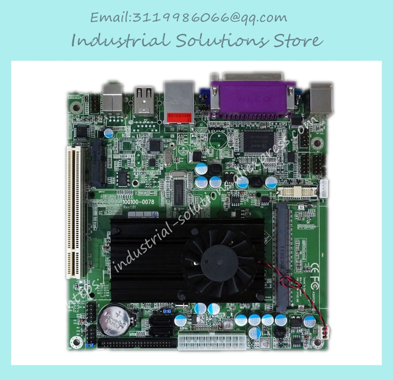 Mini-itx D425 D525 Industrial Motherboard Game Machine Pos Queue Machine 100% tested perfect quality atom d525 itx d525 2com industrial motherboard bt pos training e3001 e2011 100% tested perfect quality