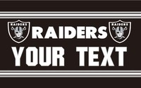 Free Shipping 3x5FT NFL Flag Oakland Raiders Your Text Flag Banner Flying Custom Flag Super Fan