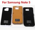 Alta capacidade 5200 mah processo de backup de bateria para samsung galaxy note 5 n920 n9200 energia da bateria externa da tampa do caso