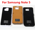 High Capacity 5200mAh Backup Battery Case For Samsung Galaxy Note 5 N920 N9200 External Battery Power case cover