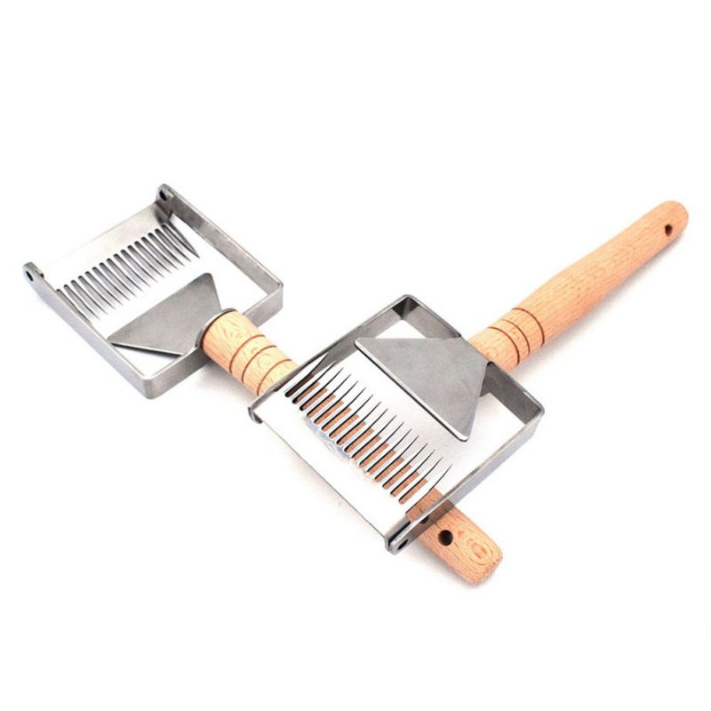 Professional Easy Hold Honey Fork Honey Scraper Stainless Steel Uncapping Fork Home Garden Beekeeping ToolsProfessional Easy Hold Honey Fork Honey Scraper Stainless Steel Uncapping Fork Home Garden Beekeeping Tools