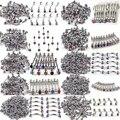Venta al por mayor sortea 100 unids mezclado 10 estilos joyería Piercing Tragus barra Lip Rings Punk Unisex acero inoxidable joyería del cuerpo