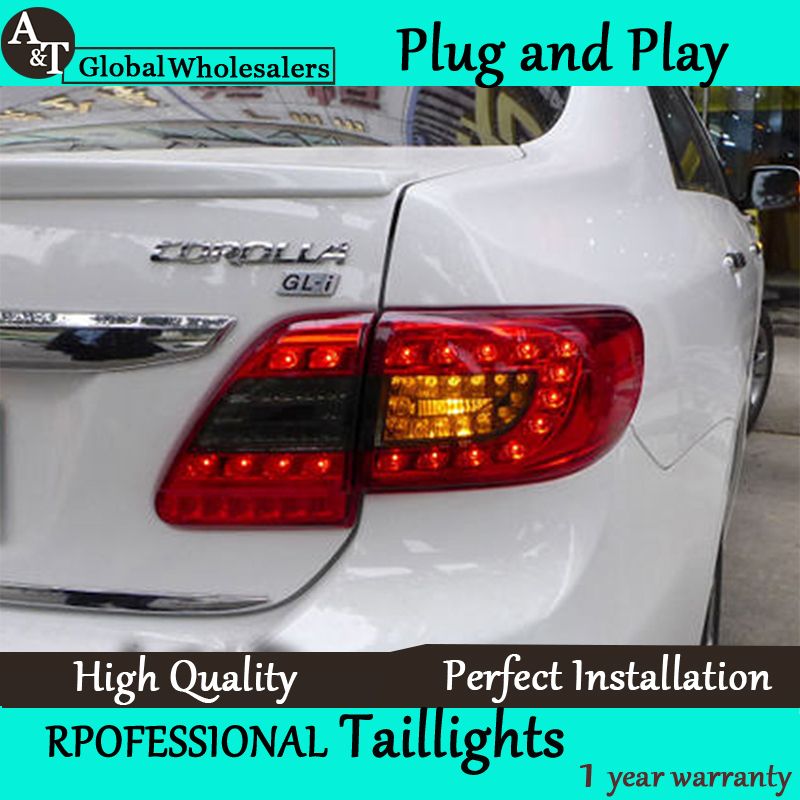 A&T Car Styling for Toyota Corolla Taillights 2011-2013 Altis LED Tail Light Altis Rear Lamp DRL+Brake+Park+Signal union car styling for 2014 corolla taillights new corolla altis led tail lamp altis rear lamp drl brake park signal led light