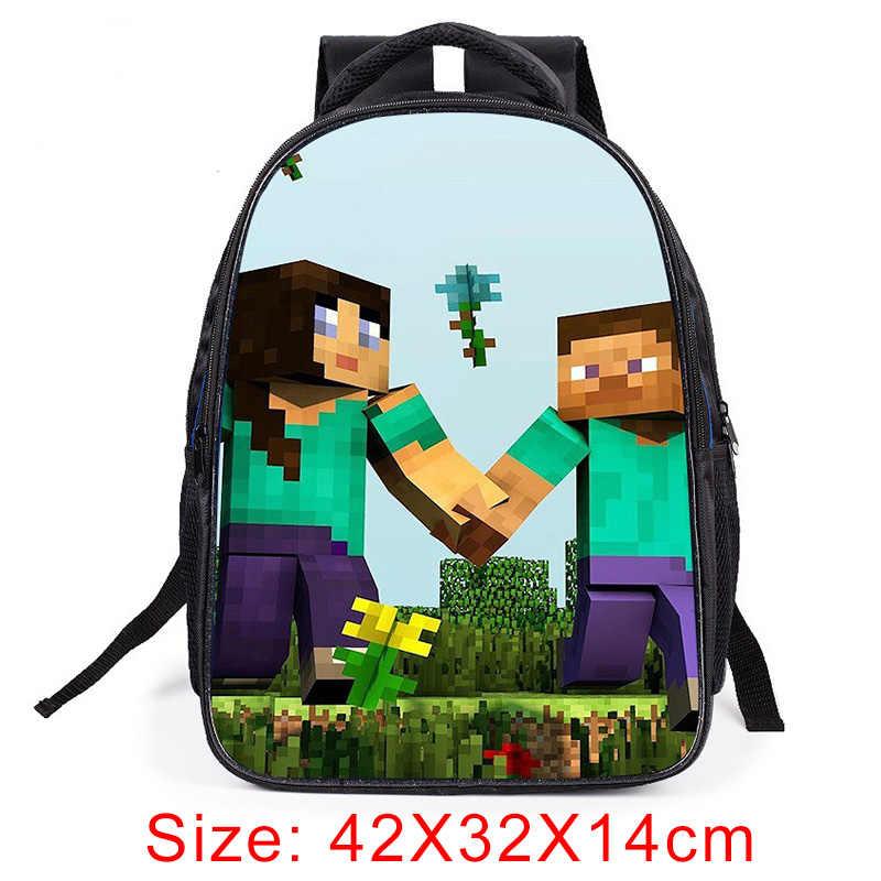Рюкзак с тиле Minecraft 2019 популярные школьные ранцы для мальчиков и девочек детский мультяшный рюкзак ежедневный детский школьный рюкзак
