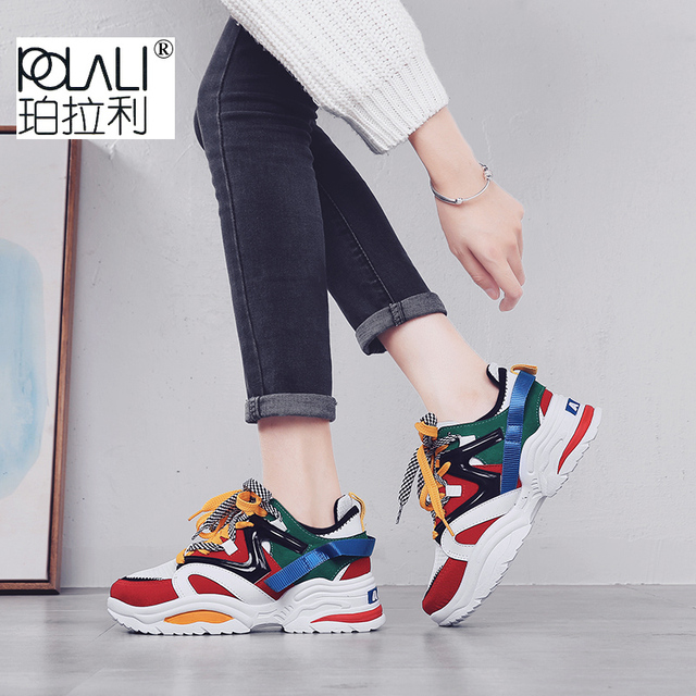0c8c10faf5efd POLALI INS Vintage dad sneakers 2018 kanye west 700 light breathable women casual  shoes zapatillas hombre casual tenis masculino