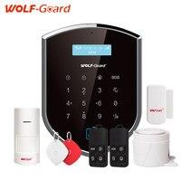 WOLF-Guard Wifi Draadloze 433 mhz Android IOS APP Afstandsbediening RFID Security wifi Alarmsysteem Met SOS knop