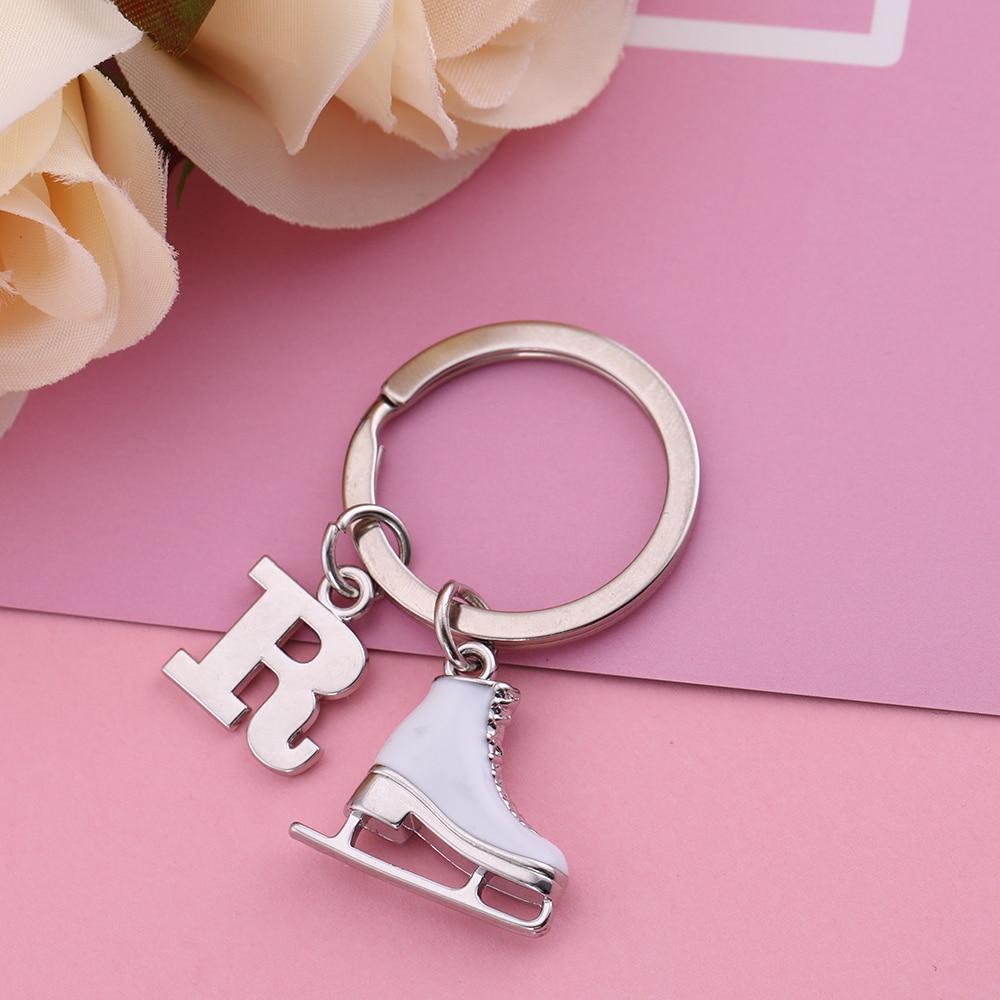 Angelhaken Brief Anhänger 26 Alphabet Initial Schlüsselbund Weiß - Modeschmuck - Foto 2