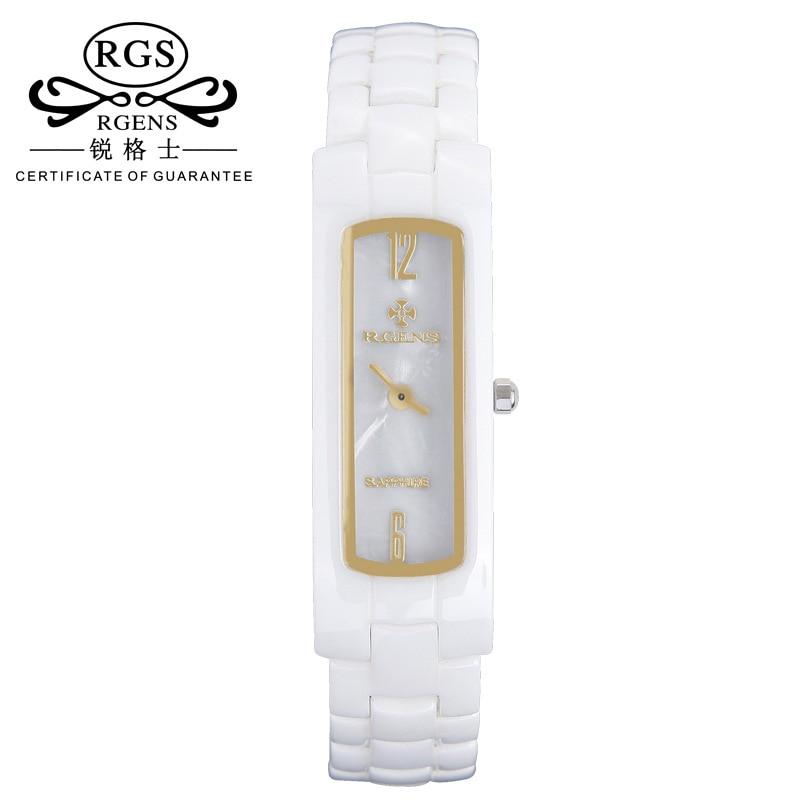 frauen weiße uhren platz damen keramik uhr quarz luxusmarke - Damenuhren - Foto 1