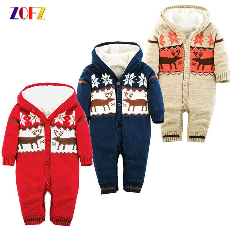 ZOFZ Casual Baby Clothes for Girls 2018 Striped Long Sleeve jumpsuit Cute baby Rompers cotton warm thick hooded babies clothing baby boys girls summer cotton clothes white navy sailor uniforms rompers short sleeve one pieces jumpsuit babies clothing gifts