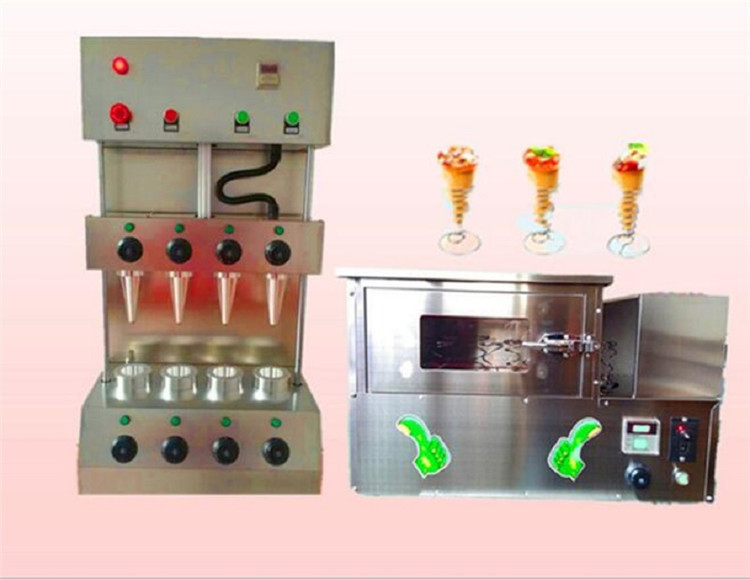 110v Popular Snack Pizza Cone Production Machine Line Pizza Cone Making Baking Oven Equipment For Sale.