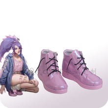 Anime cosplay shoe LOL KDA Akali Pink akali Fan-fiction faction women sneakers A