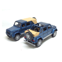 Hot diecast car scale 1:32 wheel benz Maybach Cross country pickup truck G650 Landaulet metal model pull back toy light sound