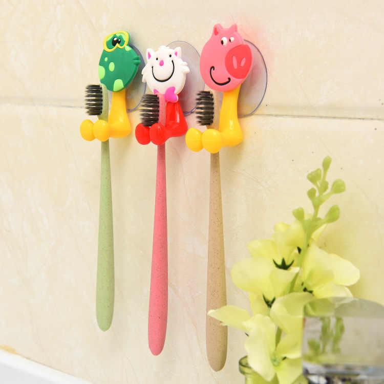 Zwierząt Cute Cartoon przyssawka uchwyt na szczoteczkę do zębów akcesoria łazienkowe zestaw uchwyt ścienny z przyssawką narzędzie