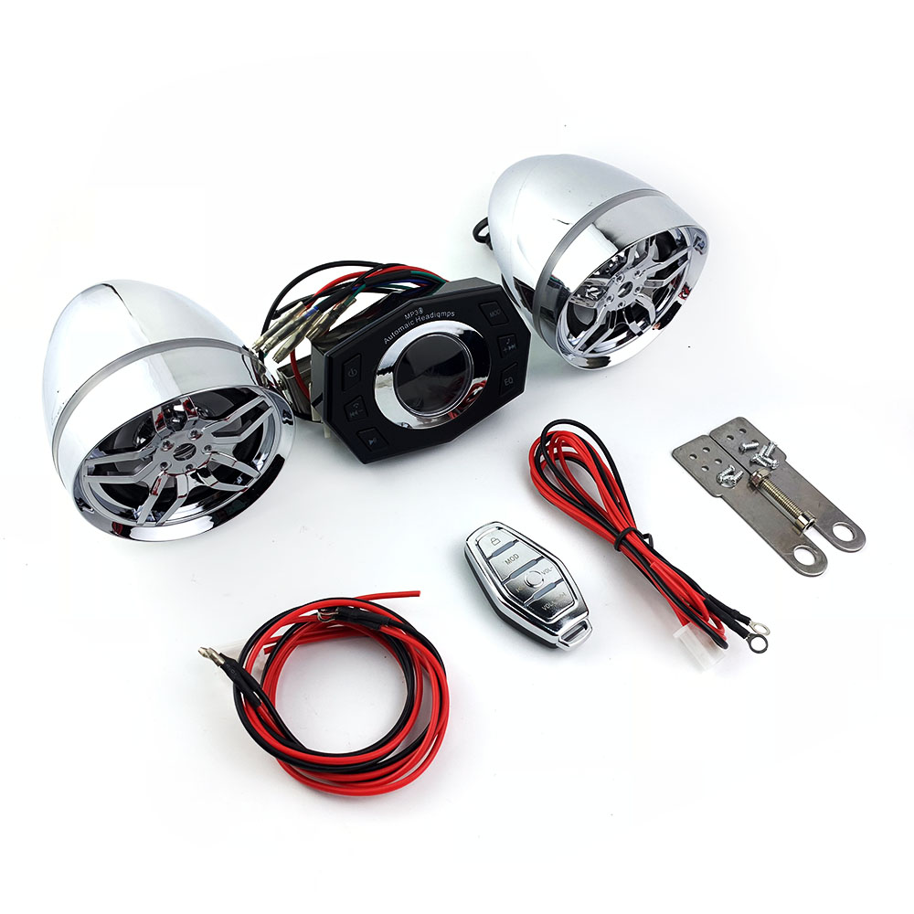 Antivol sécurité Bluetooth MP3 lecteur de musique alarme moto Scooter lecteur Audio FM Radio haut-parleur USB MP3 son système