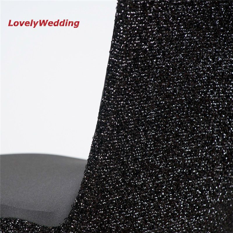 black glitter chair covers bean bag storage high quality stretch spandex lycra cover detail back
