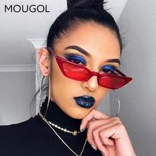 Vintage Sunglasses Women Cat Eye Luxury Brand Designer Sun Glasses Retro Small Red ladies Sunglass Black Eyewear mougol