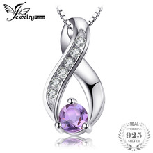 JewelryPalace 0.3ct Genuine Amethys Anniversary Pendant Necklace Genuine 925 Sterling Silver Jewelry Not Include the Chain