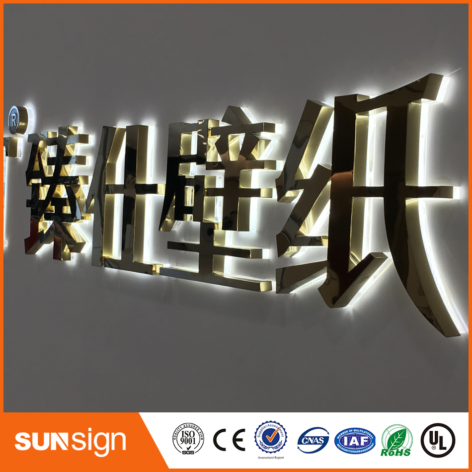 Advertising Signage Wholesale LED Acrylic Letter Sign Advertising LED Backlit Signs