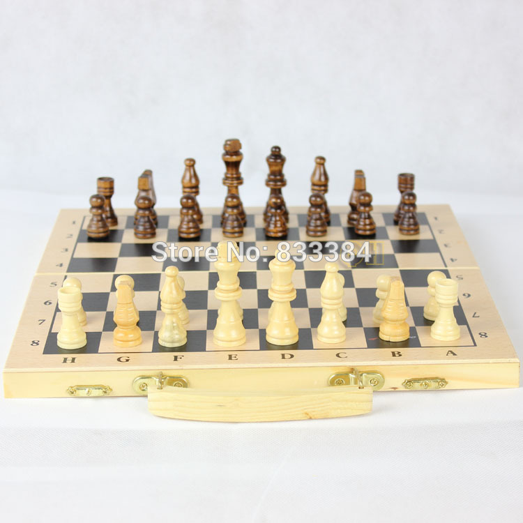 Special offer high quality Classic Wood Folding Champions Chess Set Game,Wooden Chess Game free shipping mother garden high quality wood toy wind story green tea wooden kitchen toys set